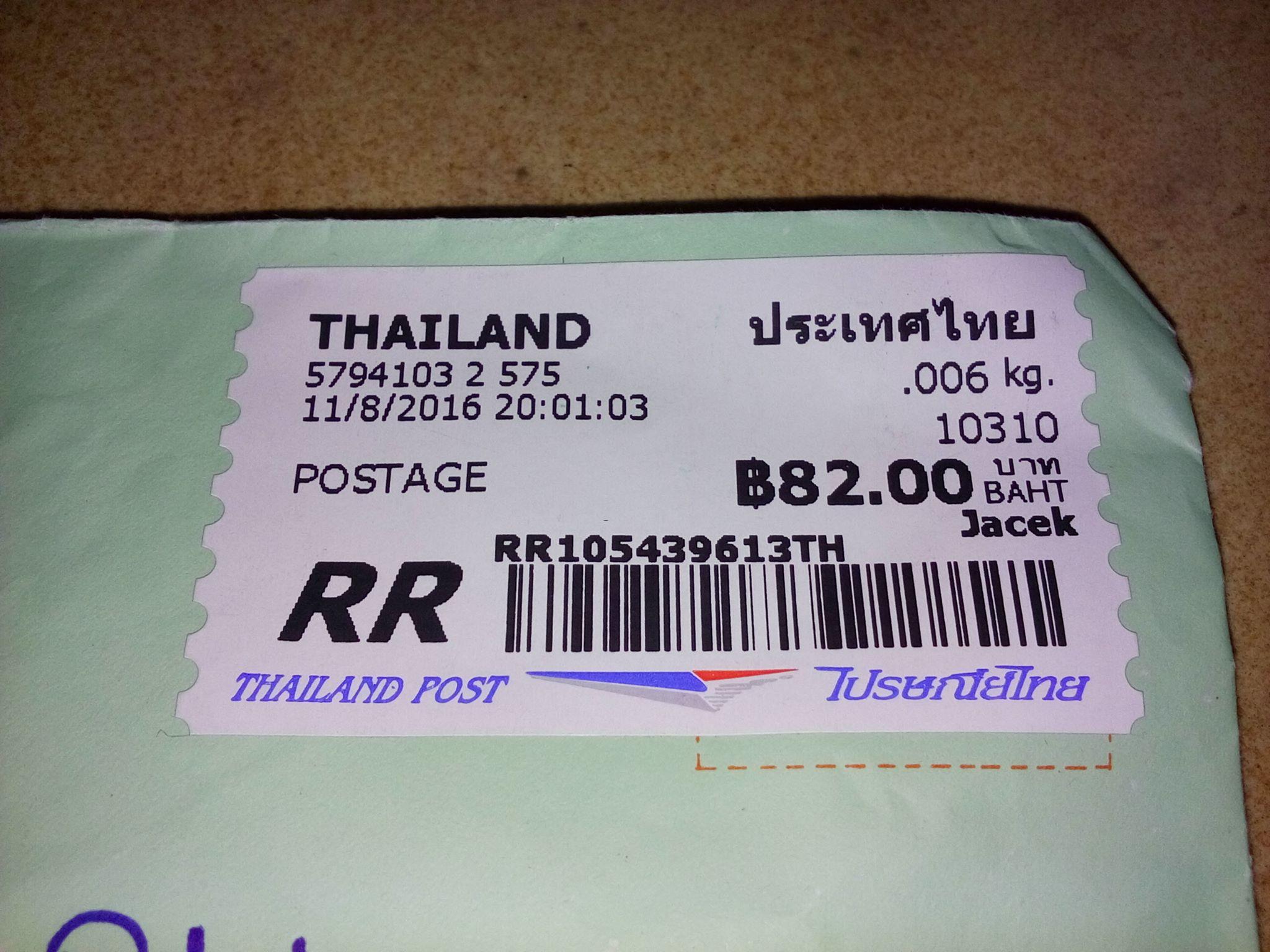 list z Tajlandii