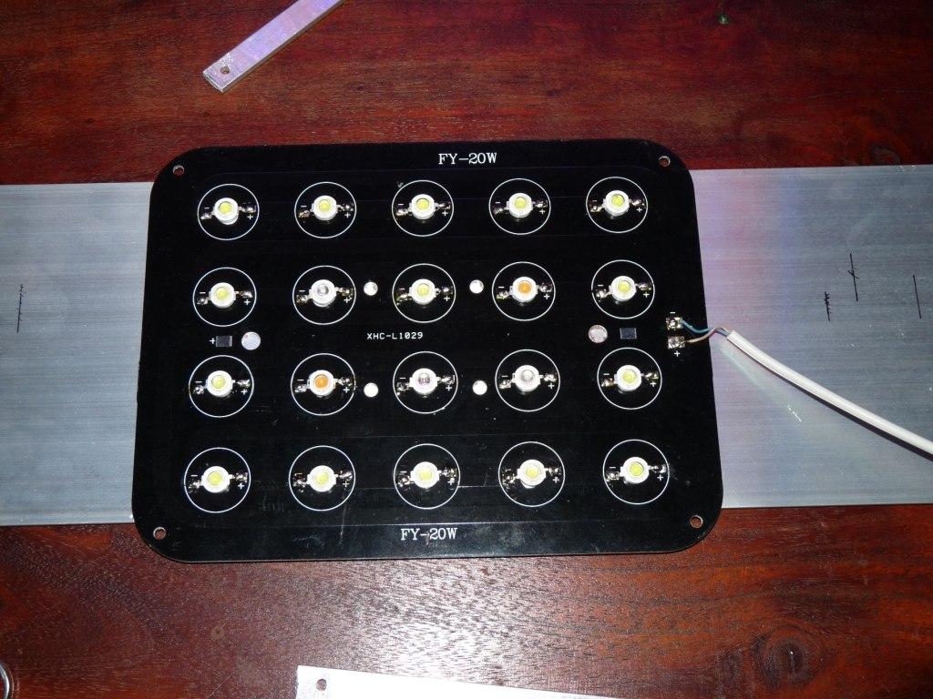 Przyklejony panel LED