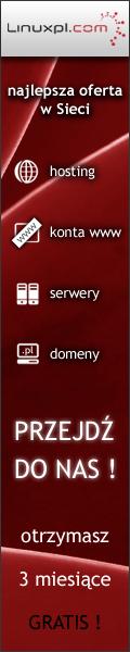 Chcesz serwer, domenę itp? Kliknij tu, dostanę niewielką prowizję po zakupie przez link Potrzebujesz serwera lub domeny? Jeśli i tak chcesz tam kupić, może klikniesz na baner? Dostanę wtedy niewielką prowizję za polecenie usługi, a Ciebie to nic więcej nie kosztuje.
