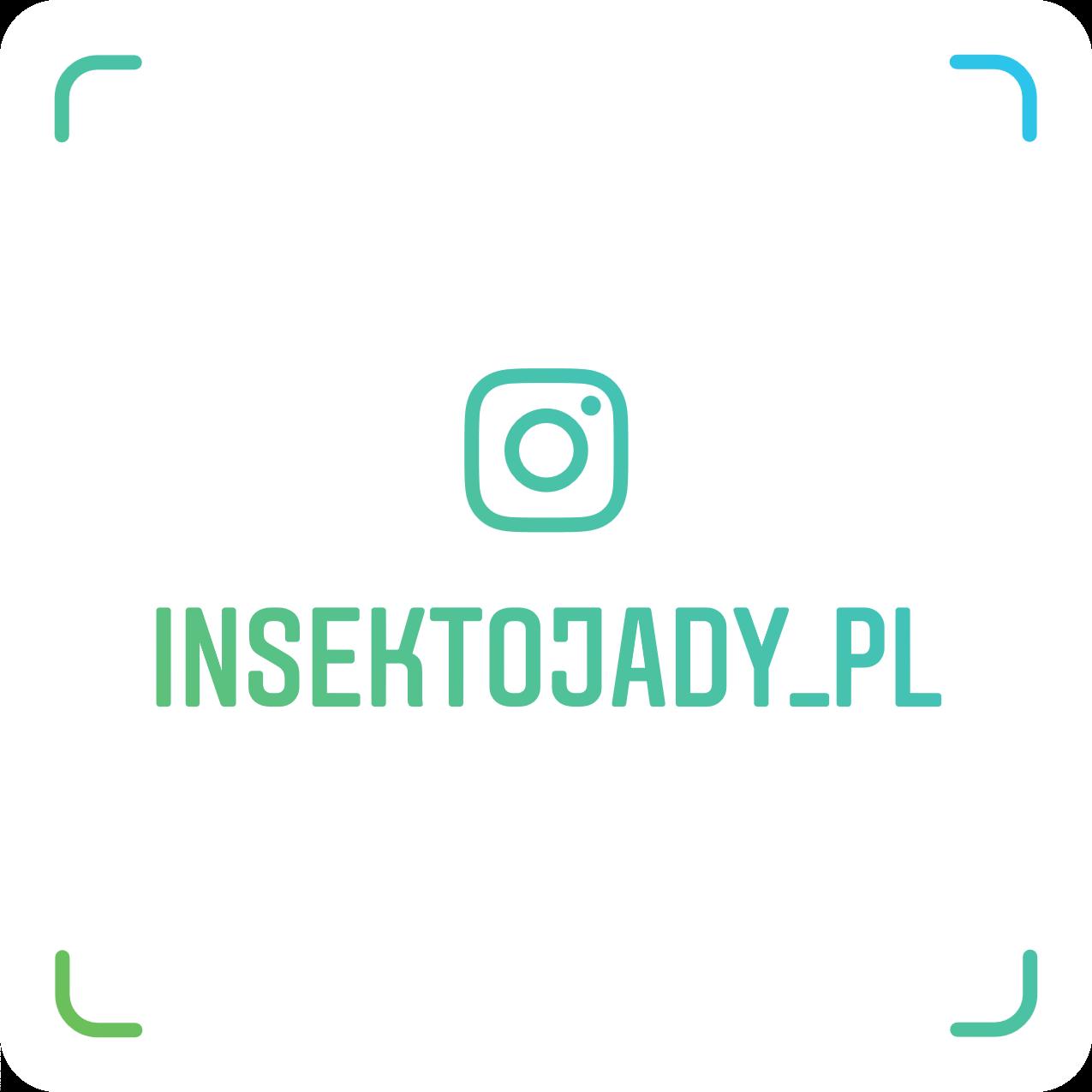 Instagram insektojadów Przejdź na instagram insektojadów, kliknij w obrazek lub zeskanuj